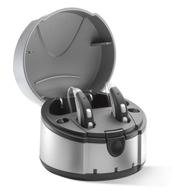 Siemens eCharger Recharges Siemens Hearing Aids