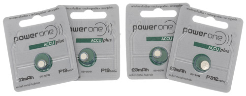 Power One Accu Plus Rechargeable Hearing Aid Batteries by Varta