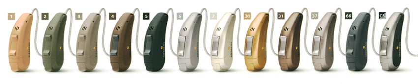 Siemens Carat Binax Hearing Aid Colors