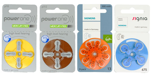 Power One, Siemens, Signia Standard Disposable Batteries