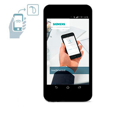 Siemens TouchControl App on a Smart Phone